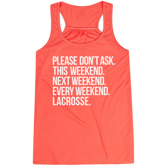 Lacrosse Flowy Racerback Tank Top - All Weekend Lacrosse