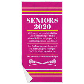 Girls Lacrosse Premium Beach Towel - Seniors 2020 Our Future Is Bright