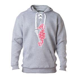 Girls Lacrosse Sport Lace Sweatshirt Lax Seahorse
