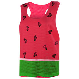 Girls Lacrosse Racerback Pinnie - Watermelon