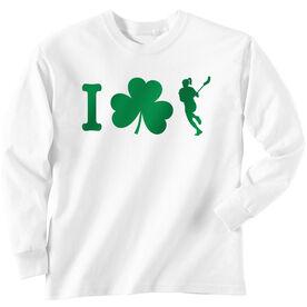 Girls Lacrosse Long Sleeve T-Shirt - I Shamrock Girls Lacrosse