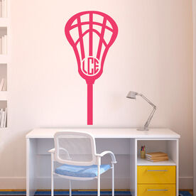 Lacrosse Removable ChalkTalkGraphix Wall Decal Monogrammed Lax Is Life