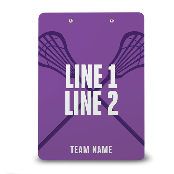 Girls Lacrosse Custom Clipboard - Coach