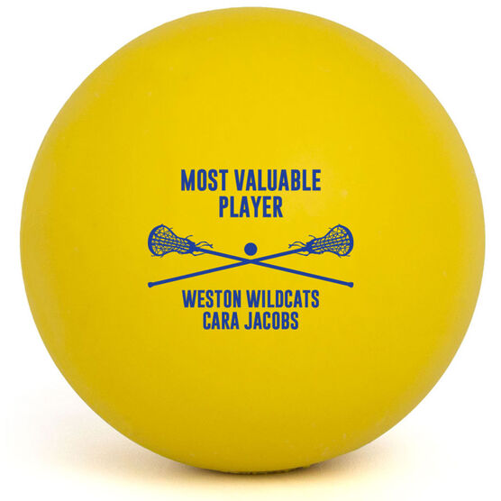 Girls Lacrosse Ball - Team Award with Crossed Sticks