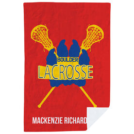 Girls Lacrosse Premium Blanket - Custom Lacrosse Team Logo