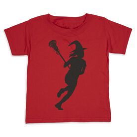 Girls Lacrosse Toddler Short Sleeve Tee - Lax Witch
