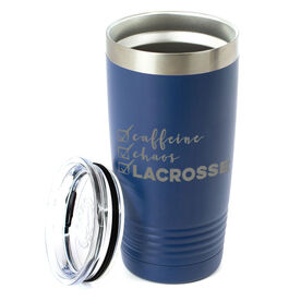 Lacrosse 20oz. Double Insulated Tumbler - Caffeine, Chaos and Lacrosse