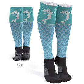 Girls Lacrosse Printed Knee-High Socks - Lax Mermaid