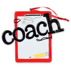 Personalized Ornament - Coach Clipboard