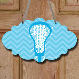 Monogrammed Lax is Life Decorative Cloud Sign