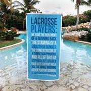 Girls Lacrosse Premium Beach Towel - Lacrosse Players