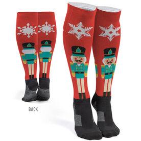 Printed Knee-High Socks - Nutcracker