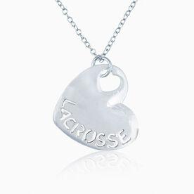 Sport Heart - LACROSSE Silver Necklace