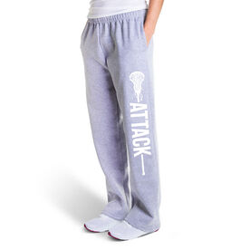 Girls Lacrosse Fleece Sweatpants - Attack
