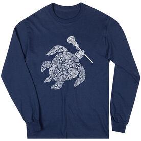 Girls Lacrosse Long Sleeve T-Shirt - Lax Turtle