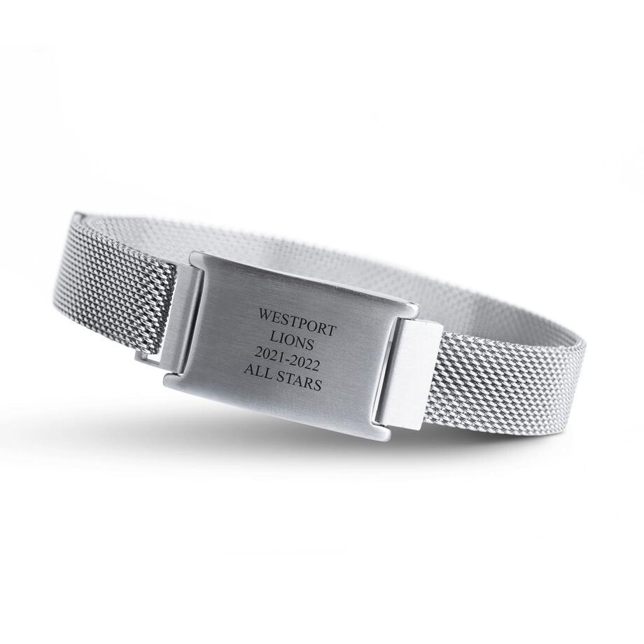 Personalized Adjustable Stainless Steel Magnetic Bracelet - Team Name