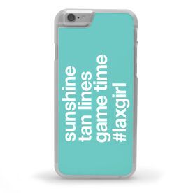 Girls Lacrosse iPhone® Case - Sunshine Tan Lines Game Time