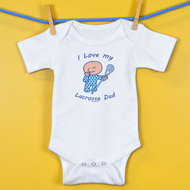 Baby One-Piece I Love My Lacrosse Dad