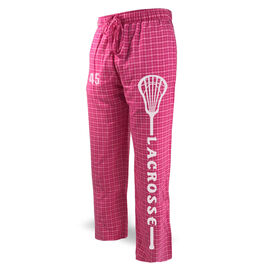 Lacrosse Lounge Pants Lacrosse Stick With Word