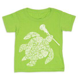Girls Lacrosse Toddler Short Sleeve Tee - Lax Turtle
