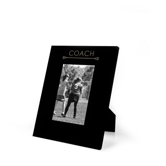 Girls Lacrosse Engraved Picture Frame - Coach | LuLaLax