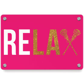 Girls Lacrosse Metal Wall Art Panel - Relax