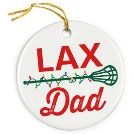 Lacrosse Porcelain Ornament Lax Dad
