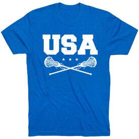 Girls Lacrosse T-Shirt Short Sleeve - USA Girls Lacrosse