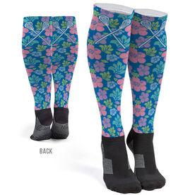 Girls Lacrosse Printed Knee-High Socks - Tropical Floral