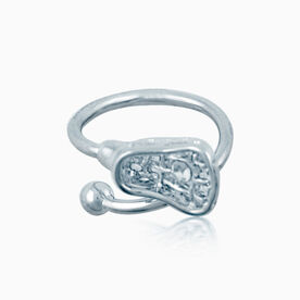 Lacrosse Stick Ring with Cubic Zirconia