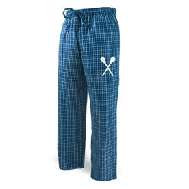 Lacrosse Lounge Pants Crossed Lacrosse Sticks Icon