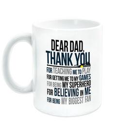 Girls Lacrosse Coffee Mug - Dear Dad