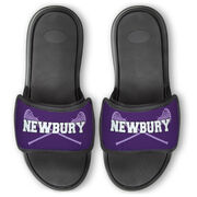 Girls Lacrosse Repwell® Slide Sandals - Personalized with Sticks