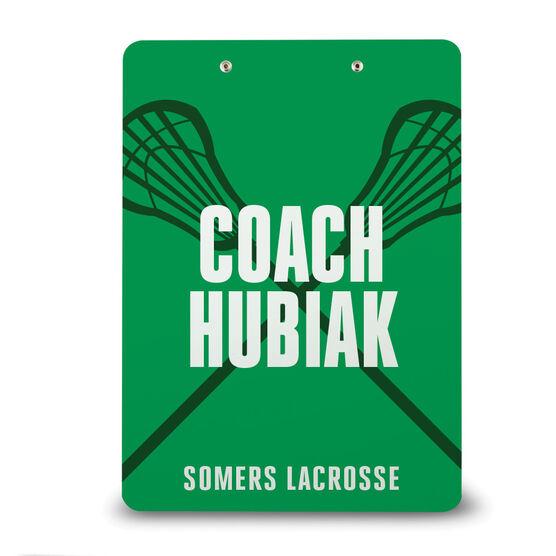 Girls Lacrosse Custom Clipboard - Coach