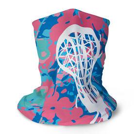 Girls Lacrosse Multifunctional Headwear - Floral with Stick RokBAND