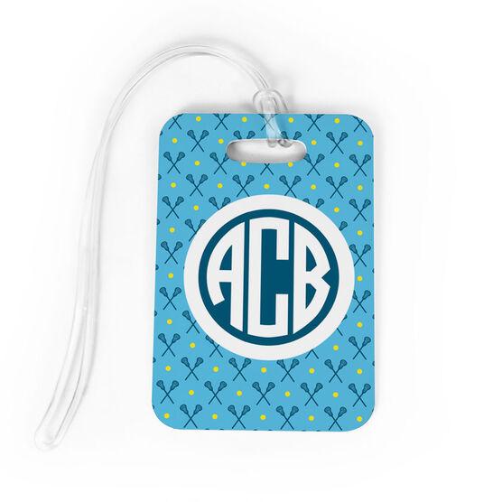 c5255daaa431 Girls Lacrosse Bag/Luggage Tag - Personalized Girls Lacrosse Pattern  Monogram