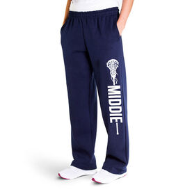 Girls Lacrosse Fleece Sweatpants - Middie