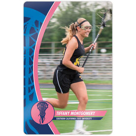 "Girls Lacrosse 18"" X 12"" Aluminum Room Sign - Player Photo"