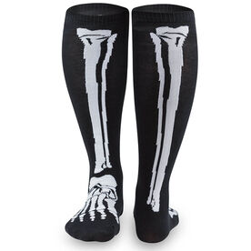 Yakety Yak Knee High Socks - Skeleton