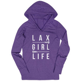 Girls Lacrosse Lightweight Performance Hoodie - Lax Girl Life