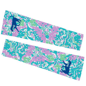 Girls Lacrosse Printed Arm Sleeves - LuLa the Lax Dog