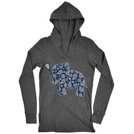Girls Lacrosse Lightweight Performance Hoodie Lax Elephant