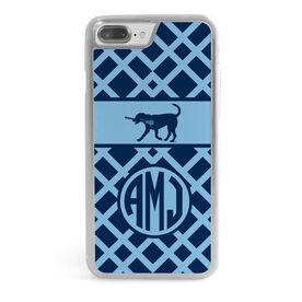 Girls Lacrosse iPhone® Case - Monogrammed Lax Dog Weave