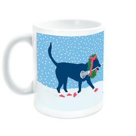 Girls Lacrosse Coffee Mug LuLa the Christmas Lax Dog