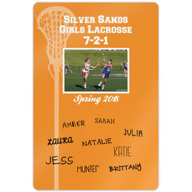 "Lacrosse 18"" X 12"" Aluminum Room Sign Personalized Record Team Photo with Signatures"