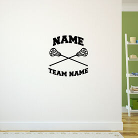 Lacrosse Removable ChalkTalkGraphix Wall Decal Personalized Lacrosse Sticks with Team Name