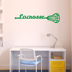 Lacrosse Removable ChalkTalkGraphix Wall Decal Lacrosse Stick Script