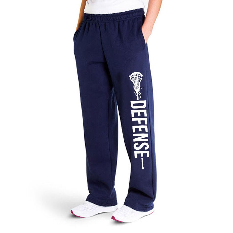Girls Lacrosse Fleece Sweatpants - Defense