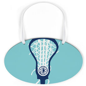Girls Lacrosse Oval Sign - Monogrammed Lax is Life
