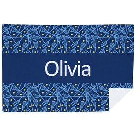 Girls Lacrosse Premium Blanket - Personalized Lax Stripe